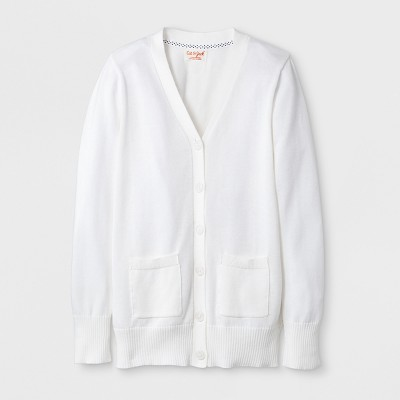Girls' Uniform Cardigan - Cat & Jack™ White
