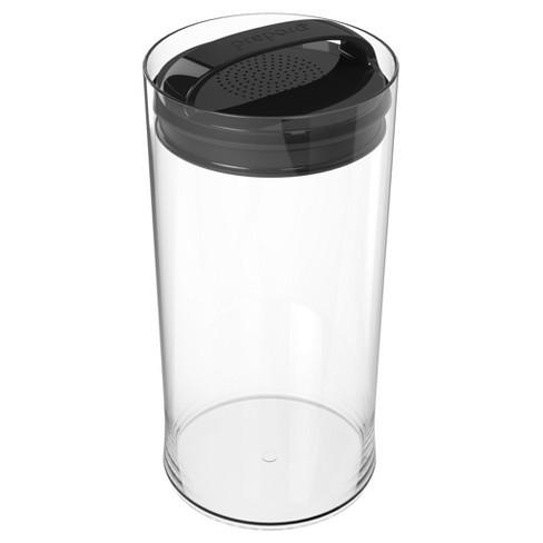 Food Storage Canister Short 4qt Black - Prepara - image 1 of 1