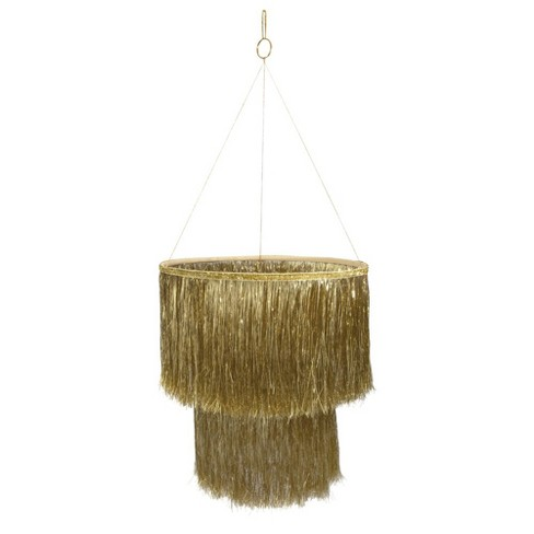 Meri Meri - Gold Tinsel Chandelier - Party Decorations and Accessories - 1ct - image 1 of 2