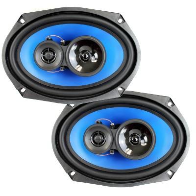 "QPower (2) 6x9"" 700 Watt 3-Way Car Audio Stereo Coaxial Speakers Pair | QP693"