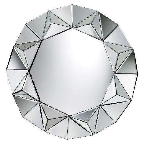 Round Decorative Wall Mirror Silver - Lazy Susan - image 1 of 1