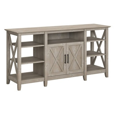 TV Stand Key West Tall Washed Gray - Bush Furniture