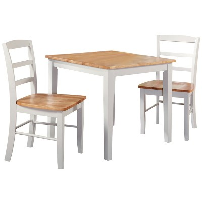 30  Set Of 3 Square Dining Table With 2 Madrid Chairs White - International Concepts  Target  sc 1 st  Target & 30