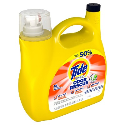 Tide Simply Odor Defense Laundry Detergents - 115 fl oz