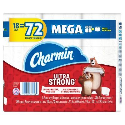 Charmin Ultra Strong Toilet Paper - 18 Mega Rolls