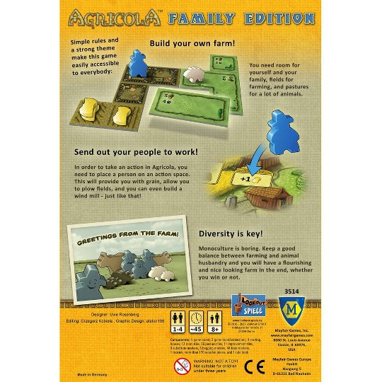 Agricola Family Edition Board Game image number null