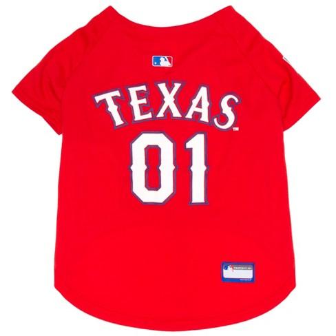 sale retailer 553e6 72082 Texas Rangers Pets First Pet Baseball Jersey - Red XXL