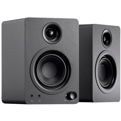 Monoprice DT-3 50-Watt Multimedia Desktop Powered Speakers, 40 Watts RMS, Near Field Frequency Response, For Mobile, Computer, and Audio Equipment