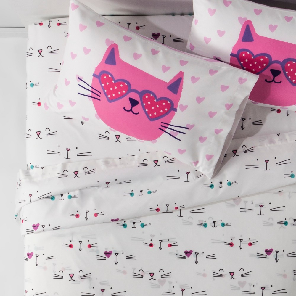 Image of R U Kitten Me Full Sheet Set, Multicolored