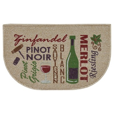 Red Words Of Wine Kitchen Rug (18 X30 )