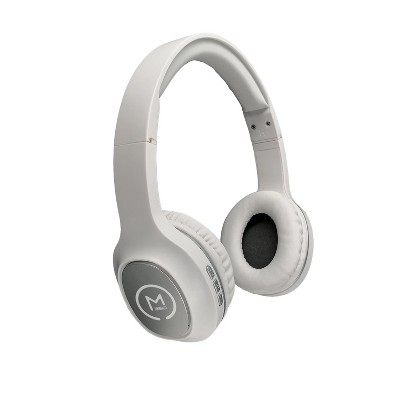 Morpheus 360 Tremors HP4500W Wireless On-Ear Headphones - Bluetooth 5.0 Headset with Microphone, White with Silver Accents