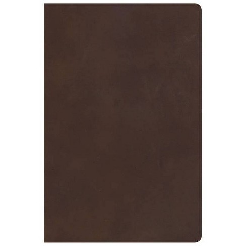 KJV Super Giant Print Reference Bible, Brown Genuine Leather, Indexed - by  Csb Bibles by Holman - image 1 of 1