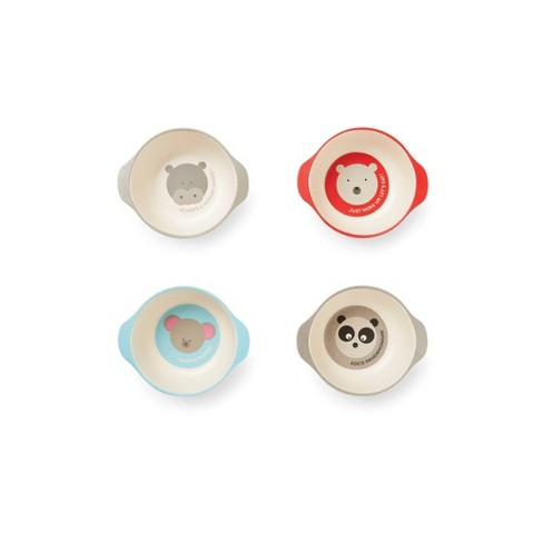 Red Rover 8oz 4pk Bamboo Fiber Animal Bowl Set - image 1 of 4