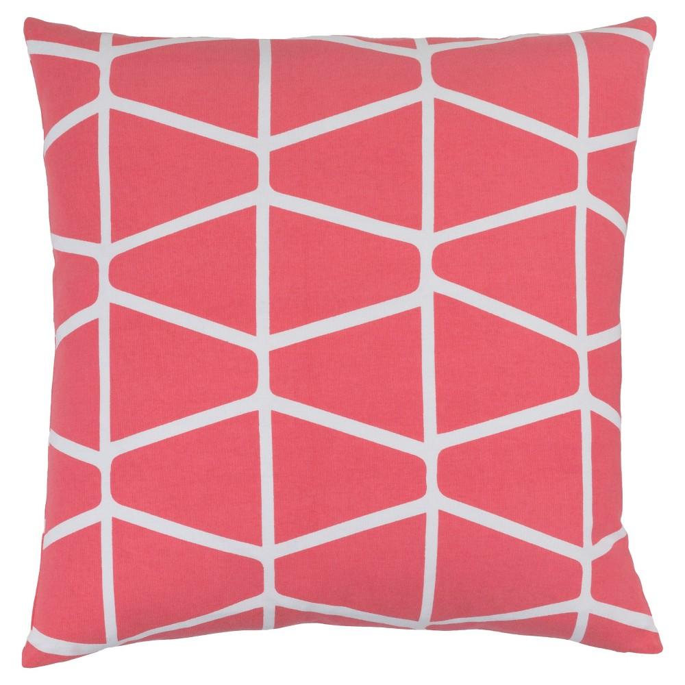 Pink Priston Geometric Throw Pillow 18