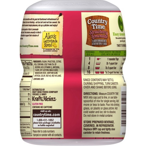 Country Time Strawberry Lemonade Drink Mix 18oz Canister Target
