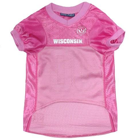 26ff02deba60 NCAA Pets First Pink Wisconsin Badgers Basketball Jersey - L   Target