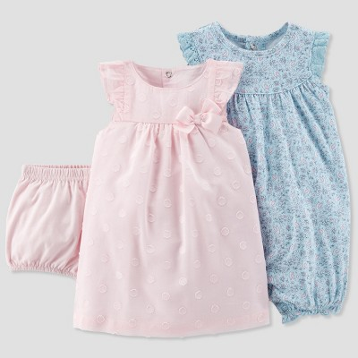 Baby Girls' 2pk Romper and Dress Set - Just One You® made by carter's Pink 9M