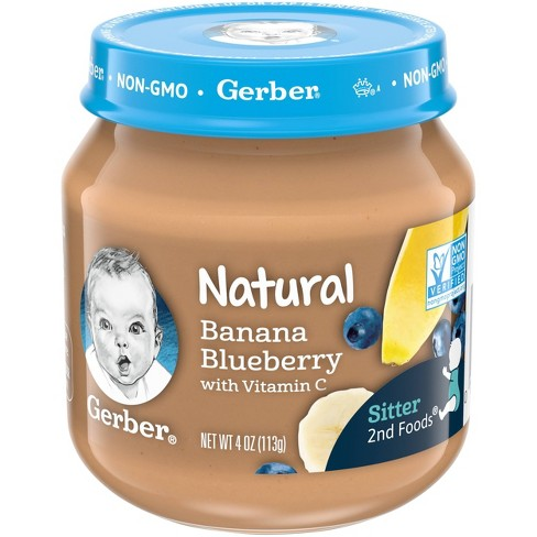 Gerber 2nd Food Natural Banana Blueberry Baby Meals - 4oz - image 1 of 4