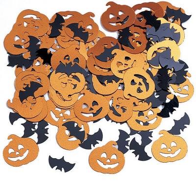 Bats and Pumpkin Confetti