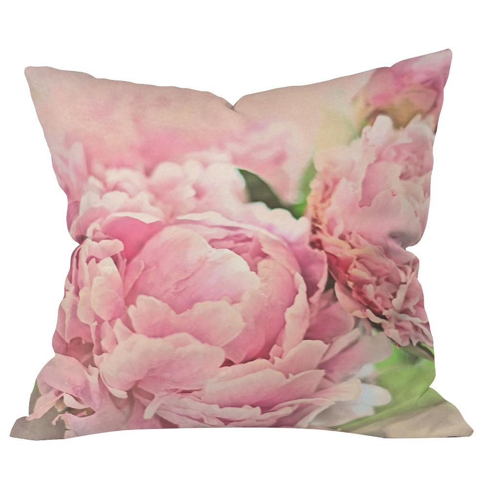 Pink Peonies Throw Pillow Deny Designs
