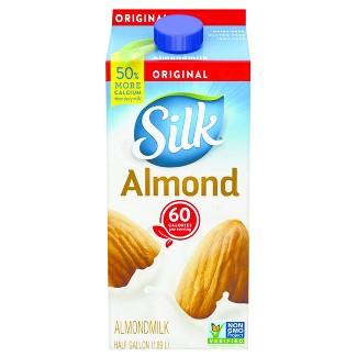 Silk Pure Almond Original Almond Milk - 0.5gal