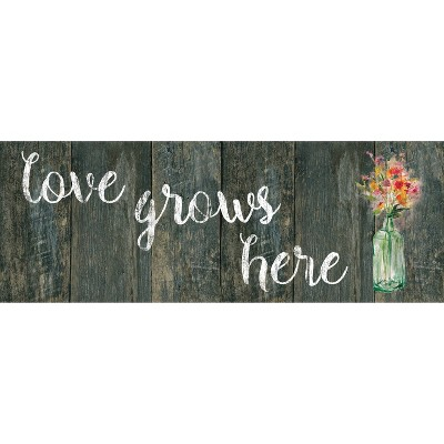 """20""""x55"""" Oversized Cushioned Anti-Fatigue Kitchen Runner Mat Love Grows Here - J&V Textiles"""