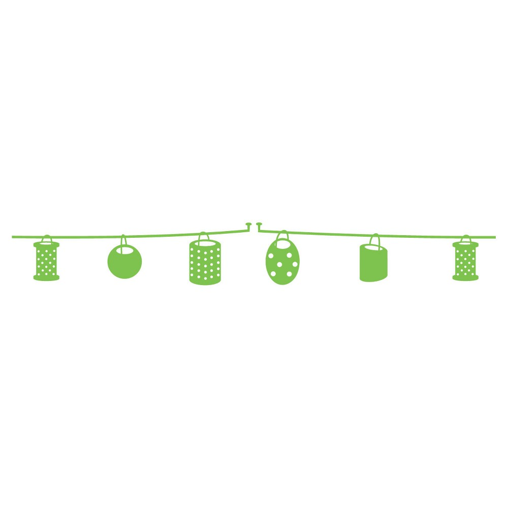 Party Border Wall Decal - Green