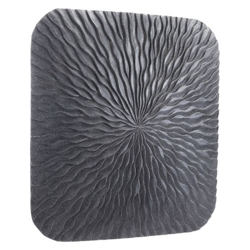 "ZM Home 24"" Textured Square Wall Sculpture Dark Gray - image 1 of 3"