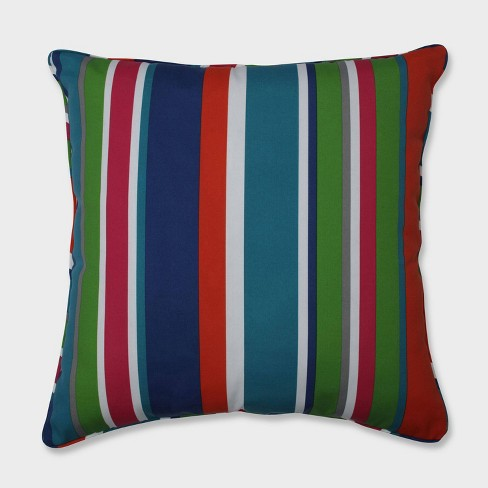 """25"""" St. Lucia Stripe Floor Pillow Blue - Pillow Perfect - image 1 of 1"""