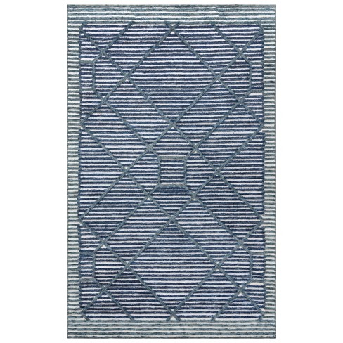 Vista Diamond Recycled Poly Area Rug - Rizzy Home - image 1 of 4