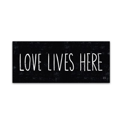 'Love Lives Here' by Michael Mullan Ready to Hang Canvas Wall Art