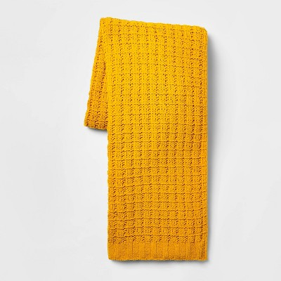 Solid Chenille Throw Blanket Gold - Threshold™