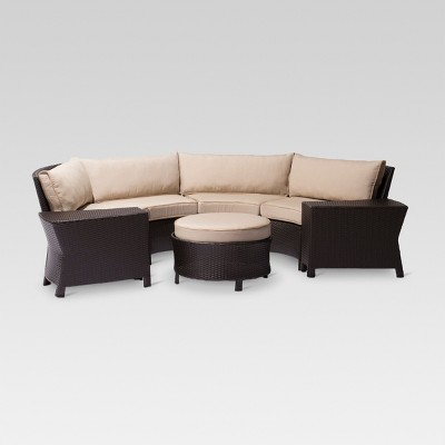 Harrison 7 Piece Wicker Sectional Patio Seating Set   Threshold™