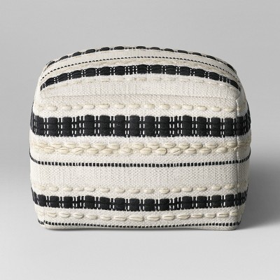 Lory Pouf Black and White Textured - Opalhouse™