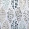 Hotaru Leaf Print Semi-Sheer Grommet Curtain Panel White - No.918 - image 4 of 4