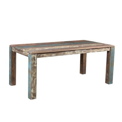 """71"""" Old Reclaimed Wood Dining Table Brown - Timbergirl"""