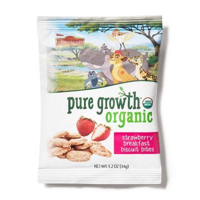 Pure Growth Organics Strawberry Breakfast Bites Bag - 1.2oz