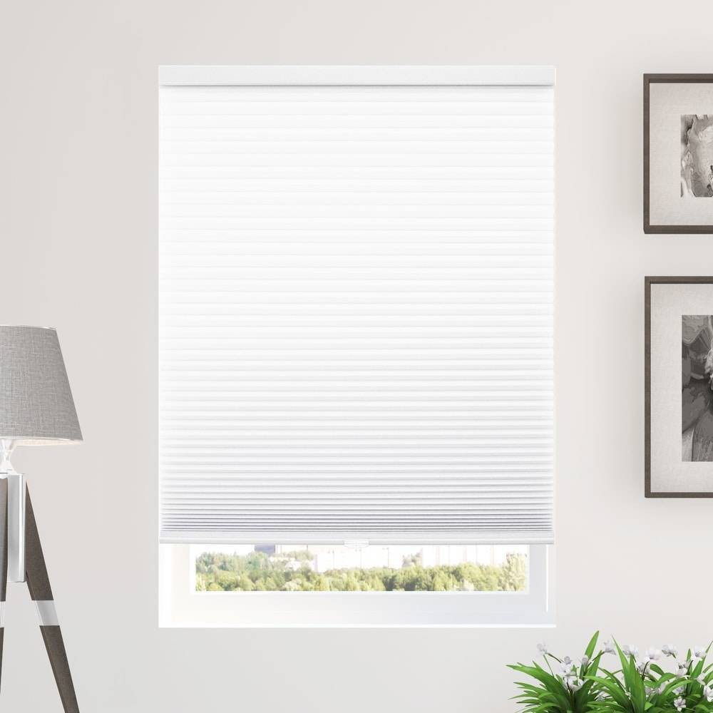 "Image of ""30""""x48"""" Cordless Light Filtering Cellular Window Shade White - Chicology"""