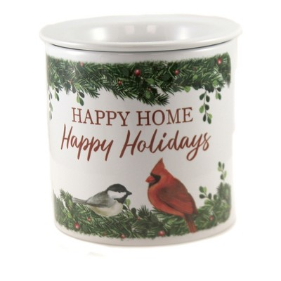 "Tabletop 5.5"" Happy Home Dip Chiller Red Bird Cardinal Christmas Carson Home Accents  -  Serving Bowls"