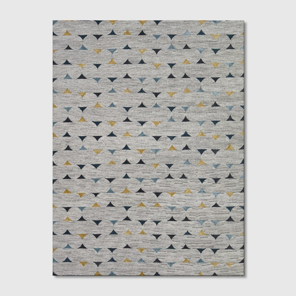 9'x12' Color Block Tufted Area Rug Gray - Project 62