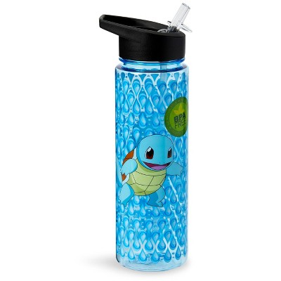 Just Funky Pokemon Squirtle 16oz Water Bottle - BPA-Free Reusable Drinking Bottles
