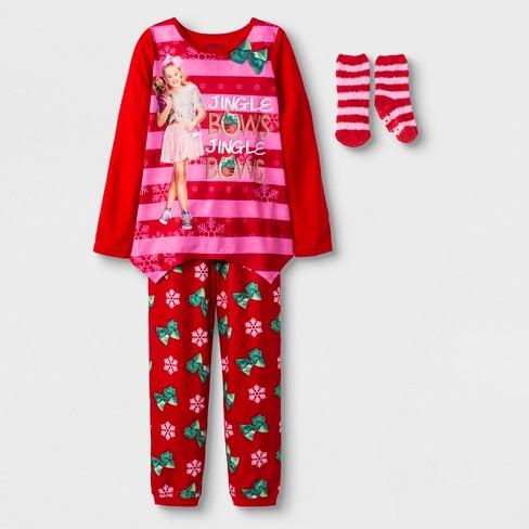 eb78acff57 Girls  JoJo Siwa 2pc Pajama Set With Sock - Red   Target
