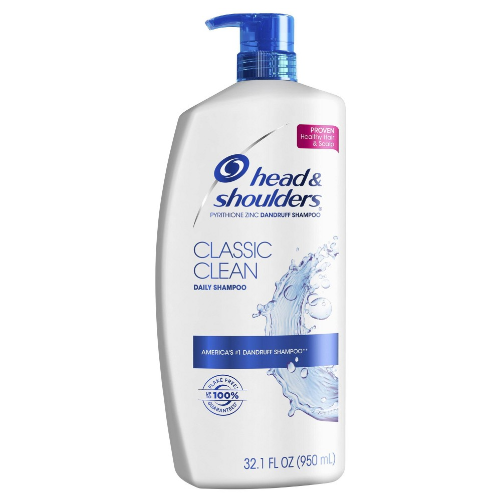 Image of Head and Shoulders Classic Clean Daily-Use Anti-Dandruff Shampoo - 32.1 fl oz