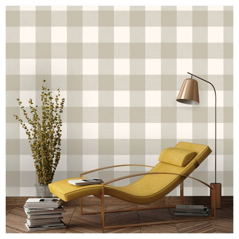 Devine Color Buffalo Plaid Peel & Stick Wallpaper -Twig and Lightning - image 1 of 6