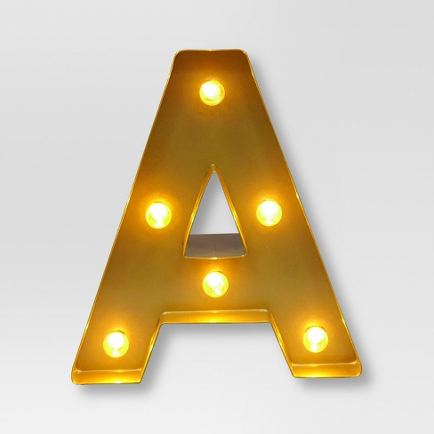 Marquee Letter Light Brass - Threshold™ - image 1 of 1