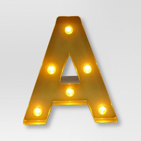 Marquee Letter Light Brass   Threshold™ : Target