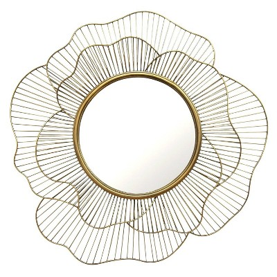 "28.25"" Stella Wall Mirror Gold - Stratton Home Décor"
