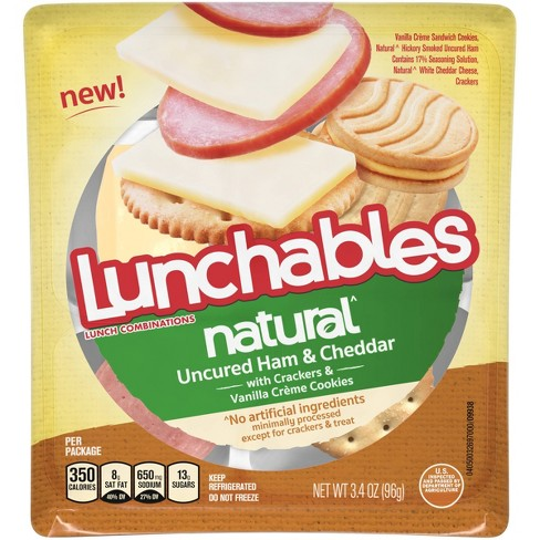 Lunchables Natural Ham And Cheddar - 3.44oz - image 1 of 3