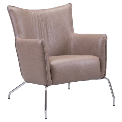Winged Upholstered Arm Chair - Espresso - ZM Home - image 1 of 5