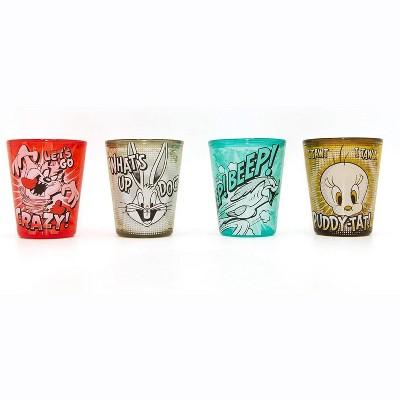 Silver Buffalo Looney Toons 1.5 Ounce Freeze Gel Plastic Mini Cups   Set of 4